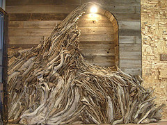 Driftwood Wave installation