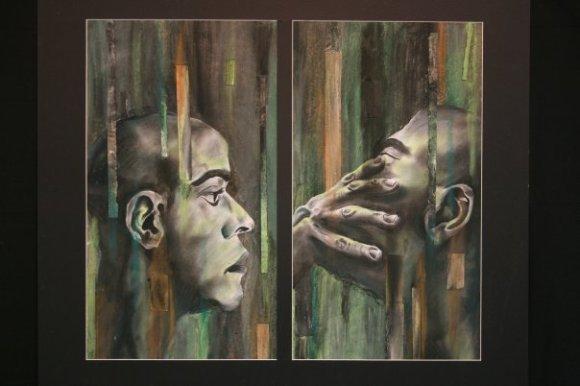 Alivia Schaffer | chalk, torn paper